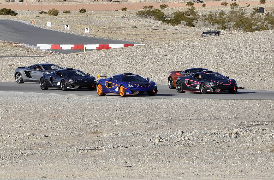 Horace Langford Jr./Pahrump Valley Times  Spring Mountain Motor Resort and Country Club hosted a track day for British supercar maker McLaren on Jan. 26, 2018. The company was there to deliver 10  ...