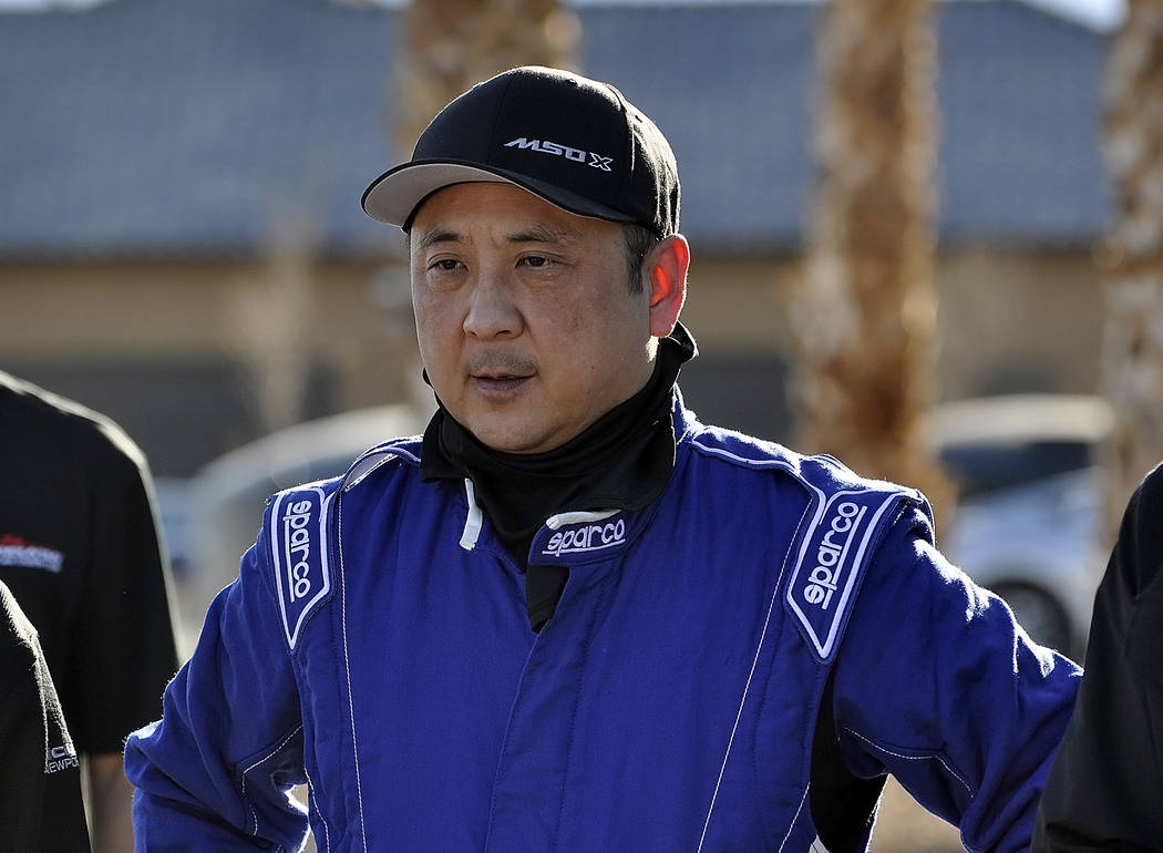 Horace Langford Jr./Pahrump Valley Times Dan Kang stands at the Spring Mountain Motor Resort and Country Club in Pahrump on Jan. 26, 2018. Kang, along with nine others, were there to pick up their ...