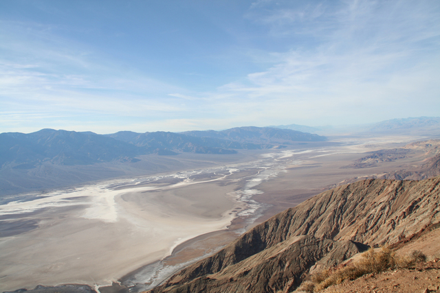 Dante's View, in Death Valley National Park, Calif., features a bird's-eye view of Badwater Basin below. (Charlotte Wall/View)
