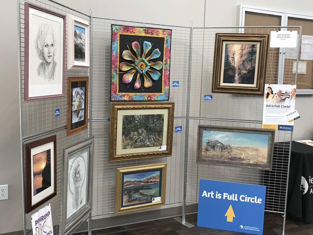Jeffrey Meehan/Pahrump Valley Times HealthCare Partners housed an art exhibit, with about 40 to 50 pieces, at its new facility at 1397 S. Loop Road in November. The display, which had works from P ...