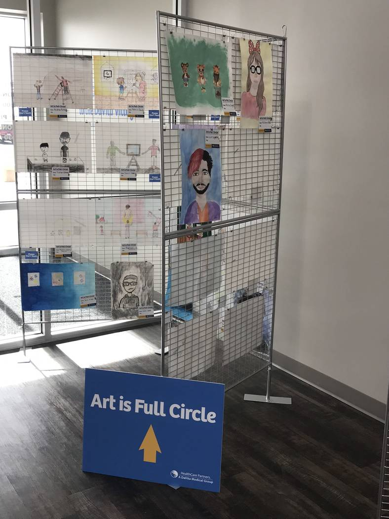 Jeffrey Meehan/Pahrump Valley Times HealthCare Partners housed dozens of works of art from Nov. 6-20 at its new facility at 1397 S. Loop Road. The cross-generational display had art from senior ci ...