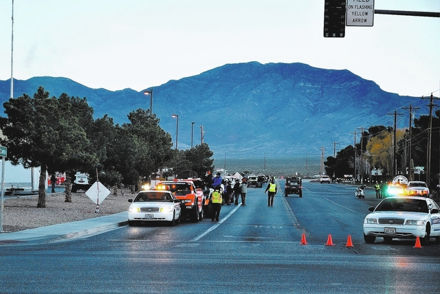 Horace Langford Jr./Pahrump Valley Times  The Pahrump Nugget 250 off-road race in 2016 as drivers prepared to move through town.