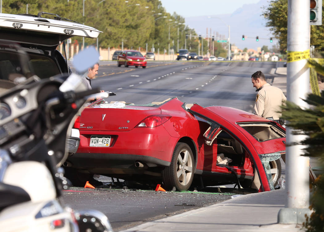 Bizuayehu Tesfaye/Las Vegas Review-Journal In Nevada deaths and injuries from vehicle-related crashes have risen steadily since late 2009. The University of Nevada, Las Vegas School of Medicine ha ...
