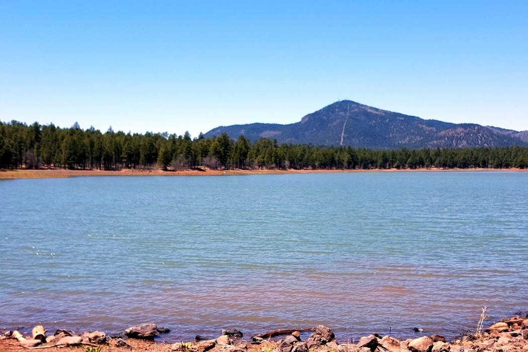 Gary Bennett/Special to the Pahrump Valley Times Dogtown Lake and campground is located just south of Williams and is a well-stocked and well-kept lake. If you like to camp this is a good place.