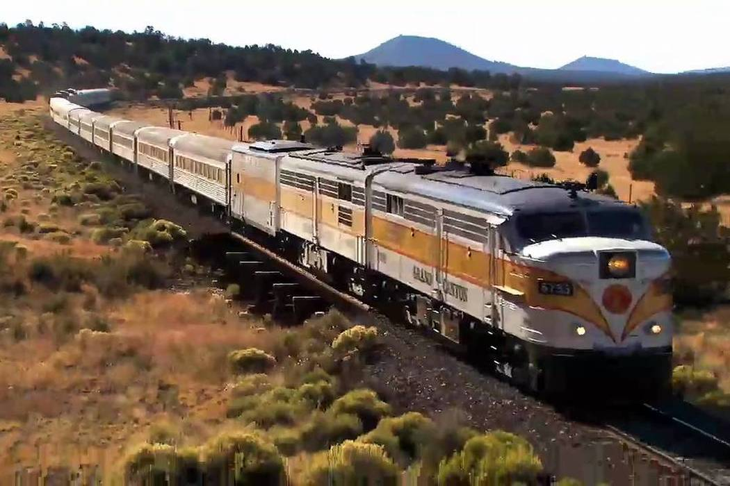 Gary Bennett/Special to the Pahrump Valley Times The Grand Canyon Railway runs daily from Williams to the South Rim Village. It leaves at 9:30 a.m. and returns at 5:45 p.m. so you have several hou ...
