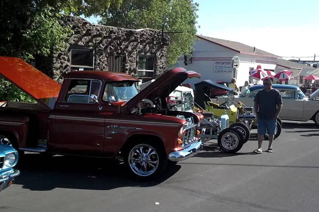Gary Bennett/Special to the Pahrump Valley Times This annual car show starts here in Williams and ends in Kingman. It usually has many cars of all types.