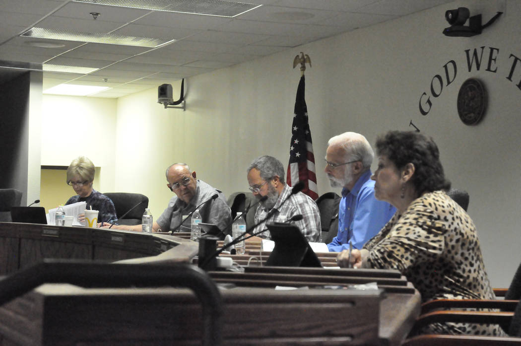 Horace Langford Jr./Pahrump Valley Times -   At the end of Nye County commissioners meeting on Nov. 21, Commissioner Butch Borasky made accusatory remarks toward brothel owner Dennis Hof, Nye Coun ...