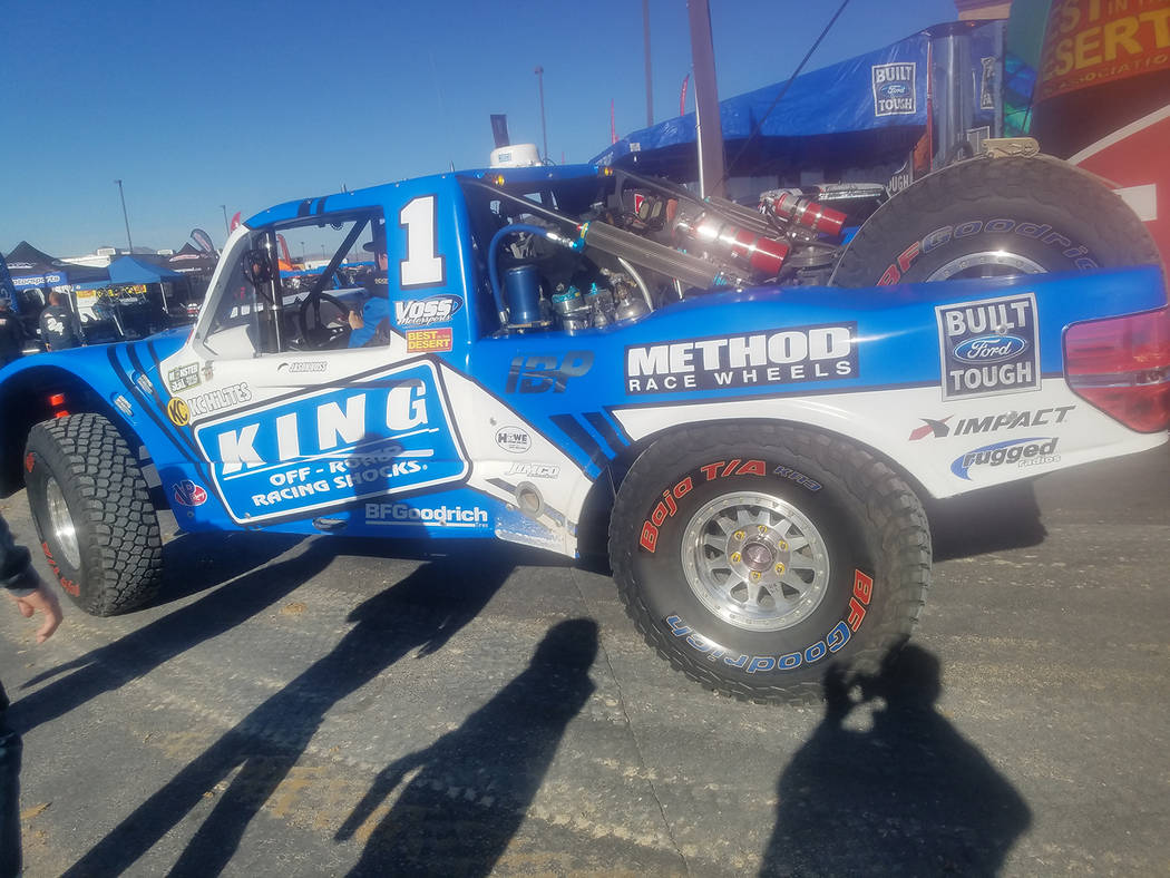 David Jacobs/Pahrump Valley Times Trick Truck Division racer Jason Voss, three-time winner of the Vegas to Reno Race, finished first on Saturday in under four hours (3:53.17) in the final race of  ...