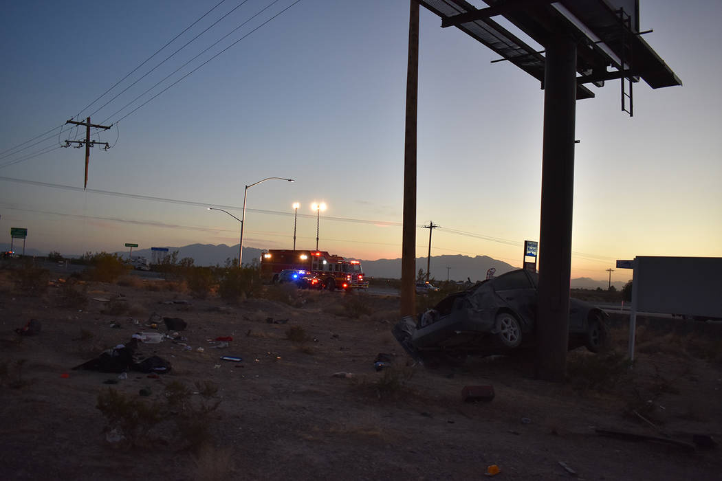 Special to the Pahrump Valley Times As the vehicle was barrel-rolling along Highway 160, Fire Chief Scott Lewis said the vehicle sheared and ultimately compromised a utility pole roughly one-third ...