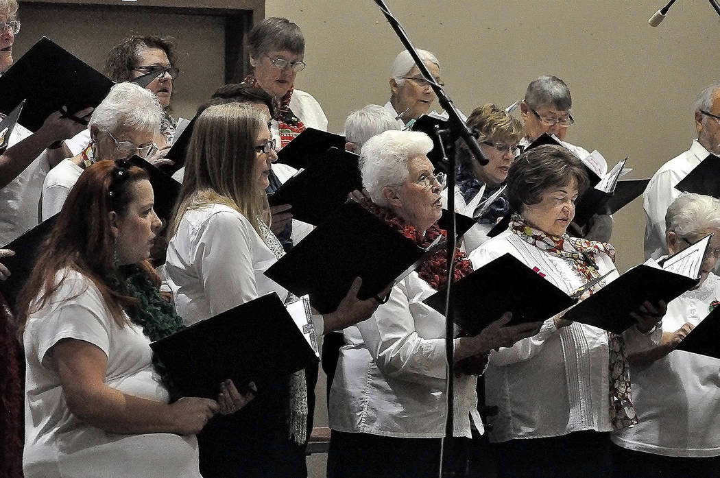 Horace Langford Jr./Pahrump Valley Times  The High Desert Chorale is shown performing its Christmas concert at the Pahrump Nugget on Dec. 6. The concert served as the kickoff for the Pahrump Arts  ...
