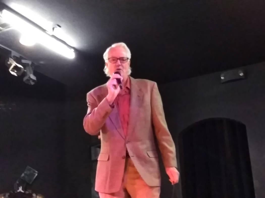 Selwyn Harris/Pahrump Valley Times Vocalist Bill Watson who performed two holiday numbers, 'I'll be Home for Christmas,' and 'Santa Claus is Back in Town,' wowed those in attendance during the Mag ...