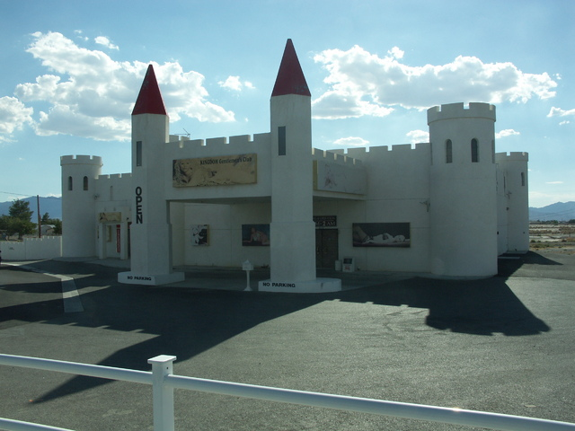 Selwyn Harris / Pahrump Valley Times  Horace Langford Jr./Pahrump Valley Times  A look at the exterior of the former Kingdom Gentleman's Club as shown in a 2014 photo. Earlier this month, the pr ...