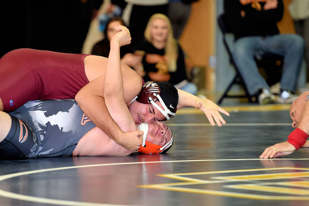 Peter Davis/Special to the Pahrump Valley Times Heading into this week, wrestling team was holding on to a 2-1 record. The Trojans are set to host their first home meet on Tuesday, Jan. 9 at 6 p.m.
