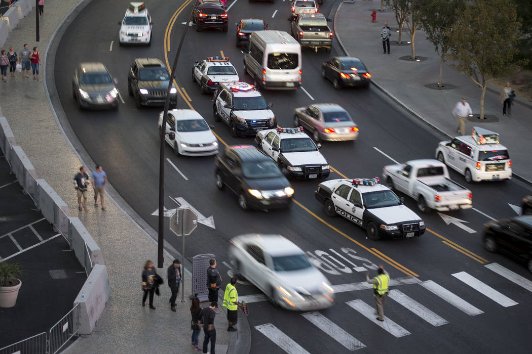 Erik Verduzco/Las Vegas Review-Journal About 320,000 visitors are expected during the holiday weekend, with at least 60 percent — or 192,000 – of those individuals driving, the Nevada Departem ...