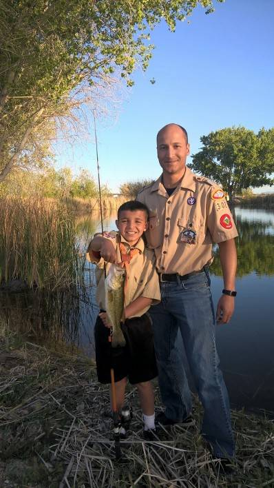 Special to the Pahrump Valley Times Tim Sutton, Nye County manager and friend, with his son, catching his first fish. For the hunter or fisher in the family, a special opportunity is offered to re ...
