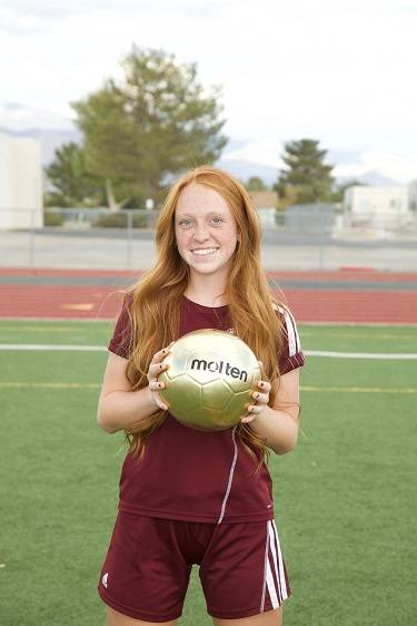 Special to the Pahrump Valley Times Pahrump Valley's Kaitlyn Carrington is a member of the Las Vegas Review-Journal's second-team all-state girls soccer team.