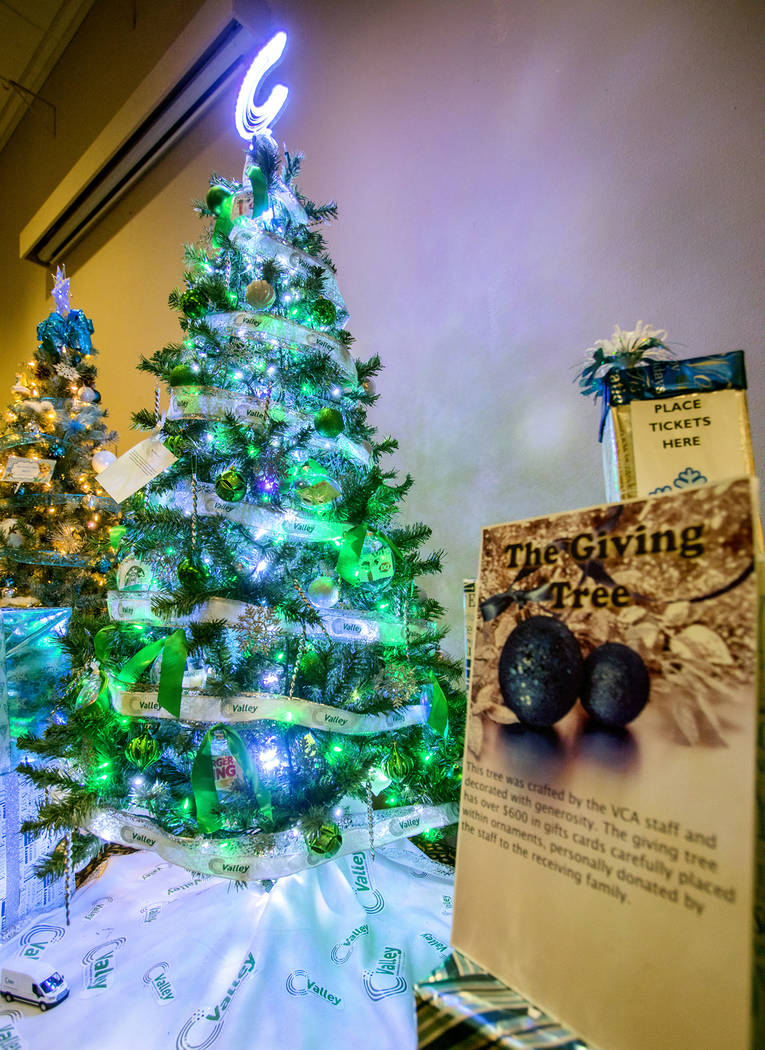 """Special to the Pahrump Valley Times The winning Christmas tree was decorated by Valley Communications Association. The tree had $400 worth of gift cards hanging from it and was called the """"Givin ..."""