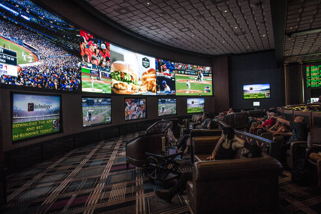Rachel Aston/Las Vegas Review-Journal  Nevada sports books lost a record $11.4 million on baseball in November. The books still won $9.8 million overall for that month.