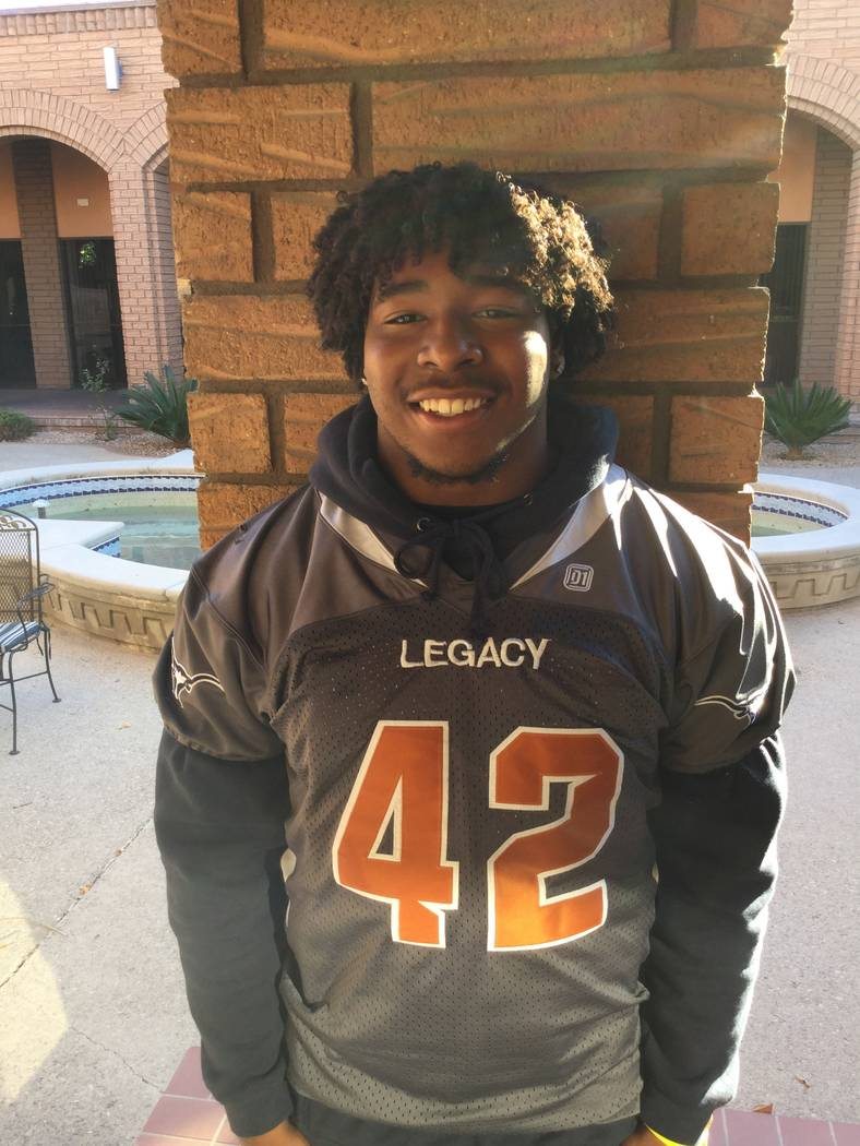 Legacy's Amere Foster is a member of the Las Vegas Review-Journal's all-state football team.