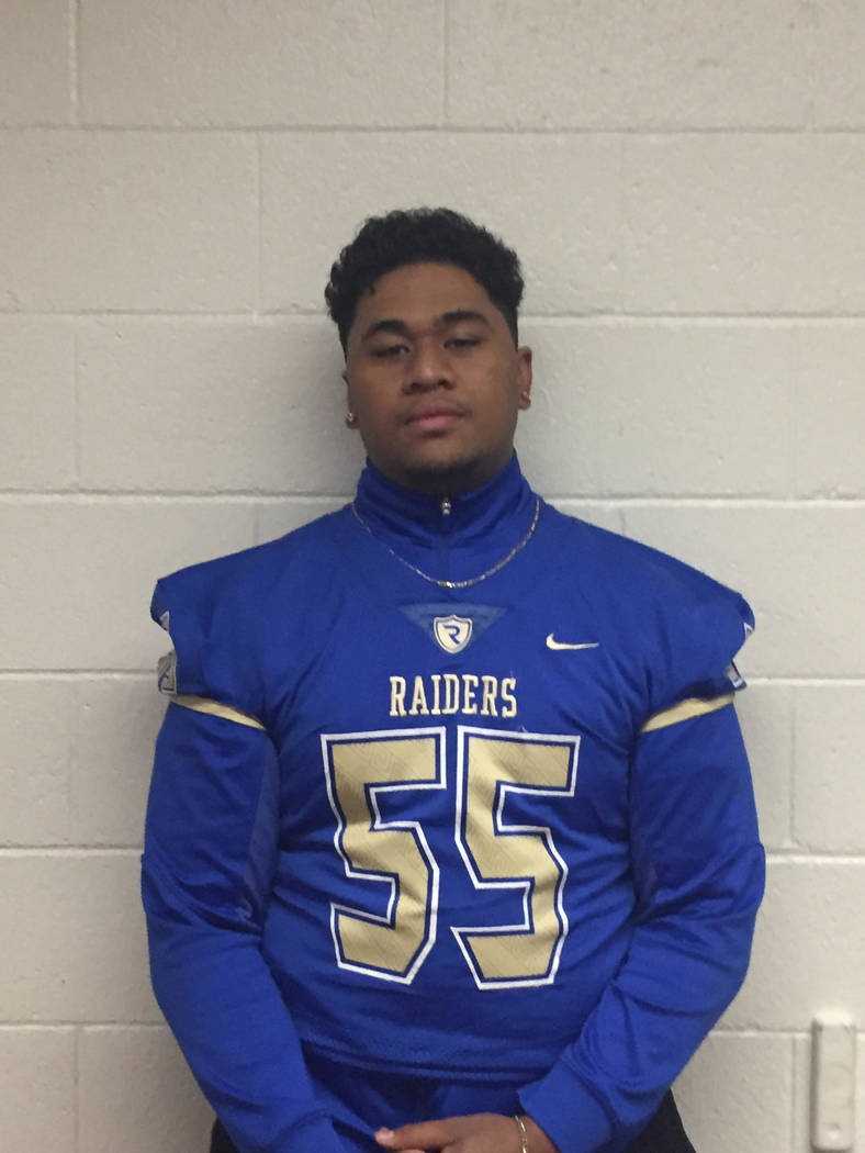 Reed's Charles Tuavao is a member of the Las Vegas Review-Journal's all-state football team.