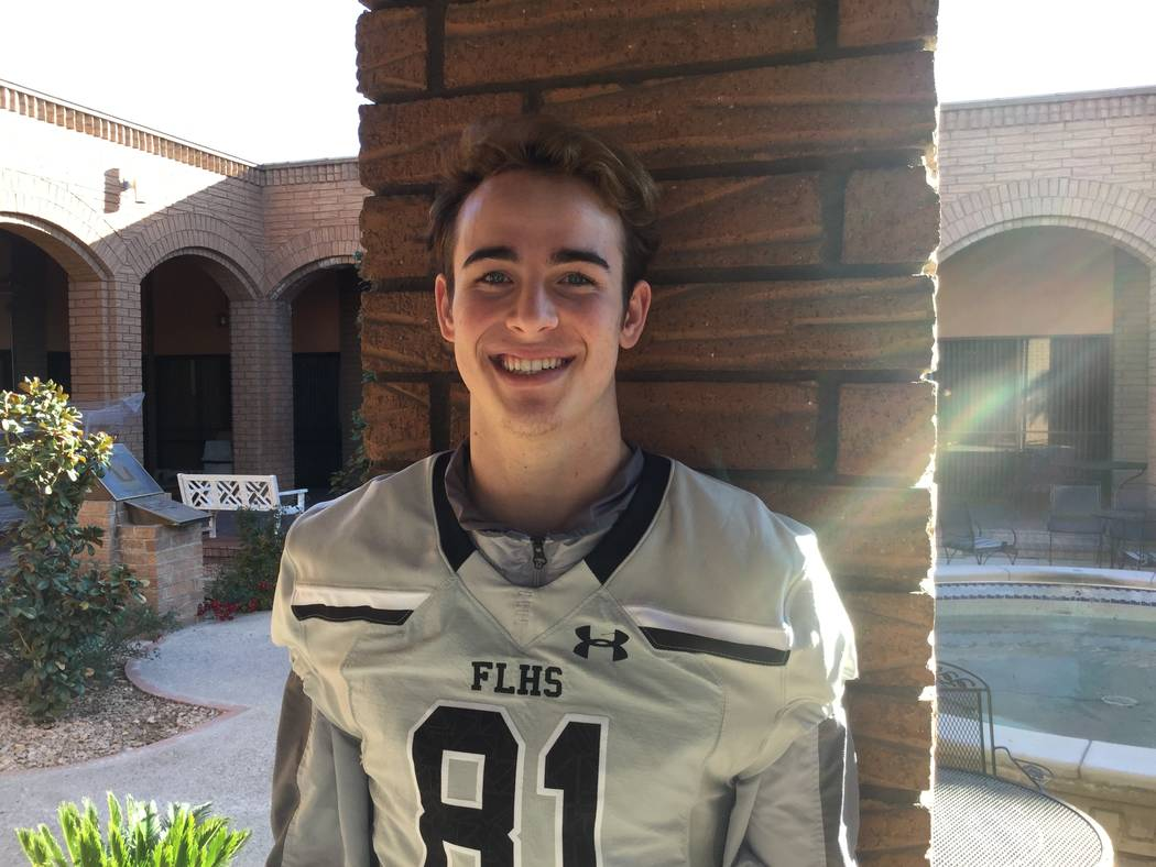 Faith Lutheran's Dalton Kincaid is a member of the Las Vegas Review-Journal's all-state football team.