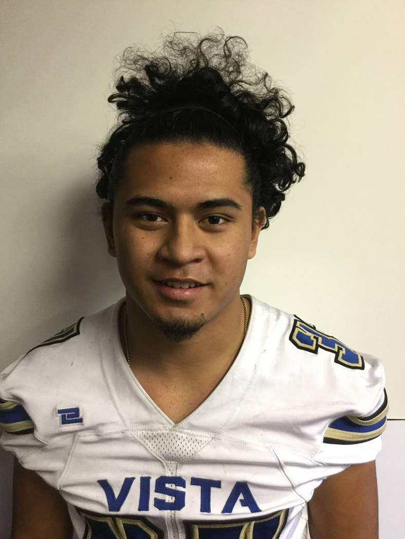 Sierra Vista's Jahssiah Maiava is a member of the Las Vegas Review-Journal's all-state football team.