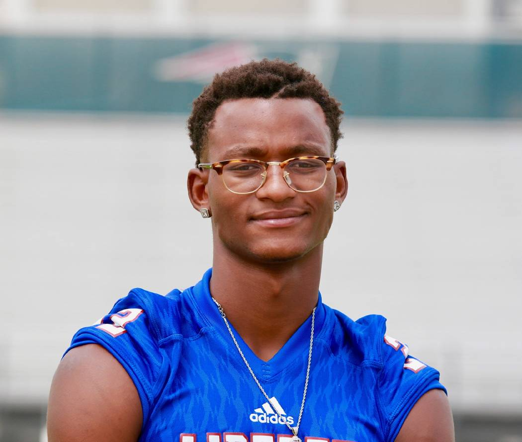 Liberty's Allan Mwata is a member of the Las Vegas Review-Journal's all-state football team.