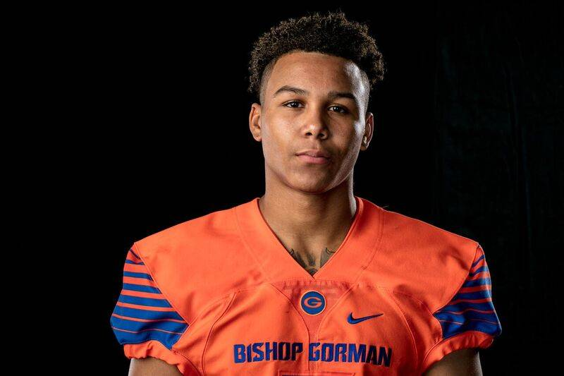 Bishop Gorman's Jalen Nailor is a member of the Las Vegas Review-Journal's all-state football team.