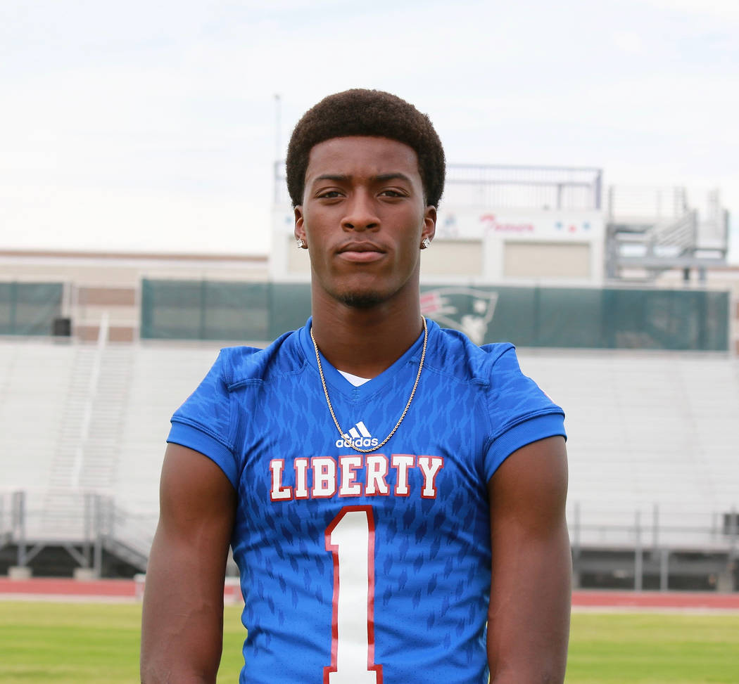 Liberty's Marquez Powell is a member of the Las Vegas Review-Journal's all-state football team.
