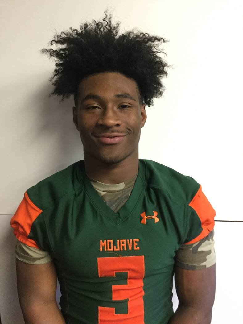 Mojave's Tawee Walker is a member of the Las Vegas Review-Journal's all-state football team.