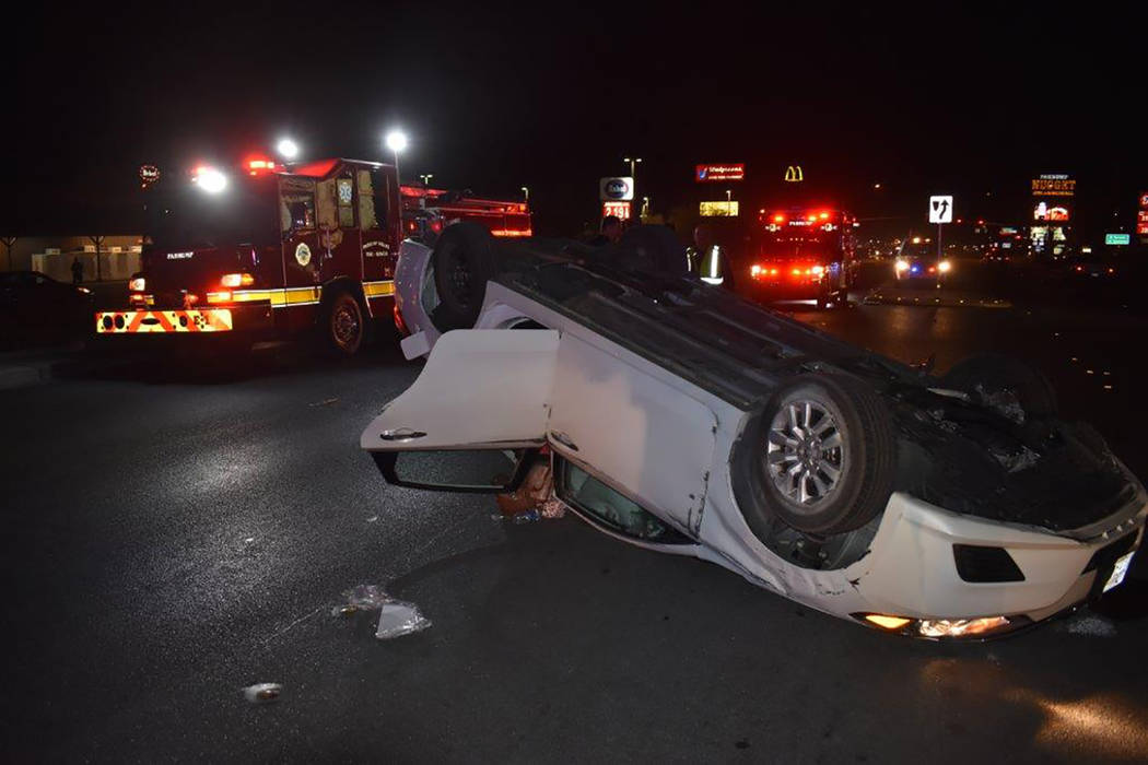 Special to the Pahrump Valley Times  A total of four patients were transported to Desert View Hospital following a three-vehicle collision along the 700 block of Highway 160, just before 6 p.m. on ...