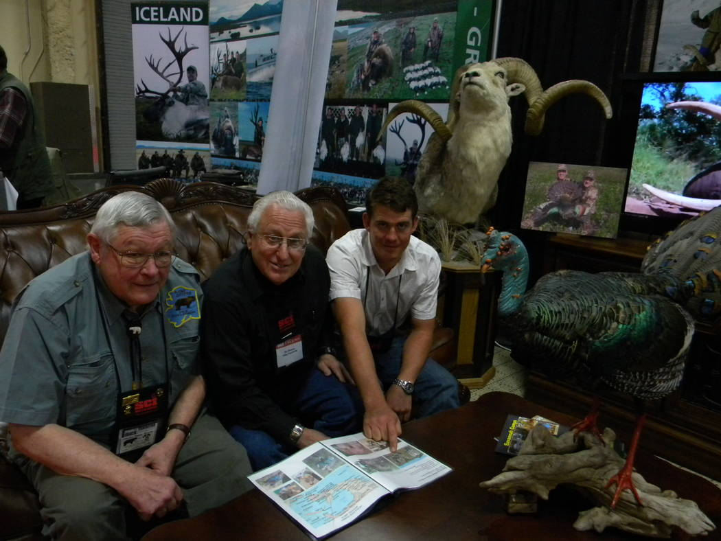 Dan Simmons/Special to the Pahrump Valley Times Dick Gunlogson (left), columnist Dan Simmons (center) and Bertus Pretorius, owner of Africa Awaits--a company that specializes in guided hunting saf ...