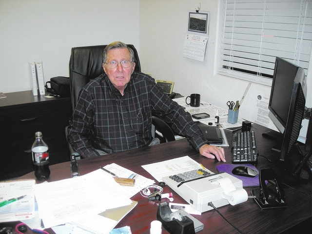 Special to the Pahrump Valley Times  Nye County treasurer Richard Billman, as shown in a 2014 photo, has officially resigned. He was appointed to the position in 2013, ran unopposed in the 2014 el ...
