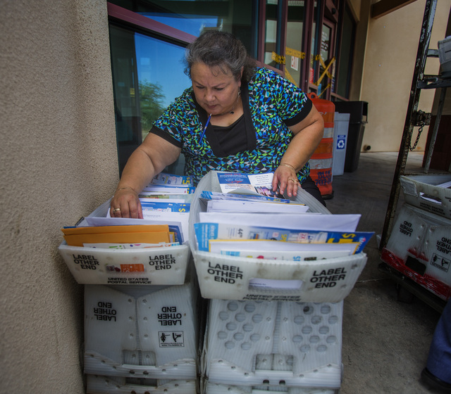 Jeff Scheid/Las Vegas Review-Journal This past fall, the Postal Regulatory Commission approved the Postal Service's planned price adjustments for first-class mail, USPS marketing mail, periodica ...