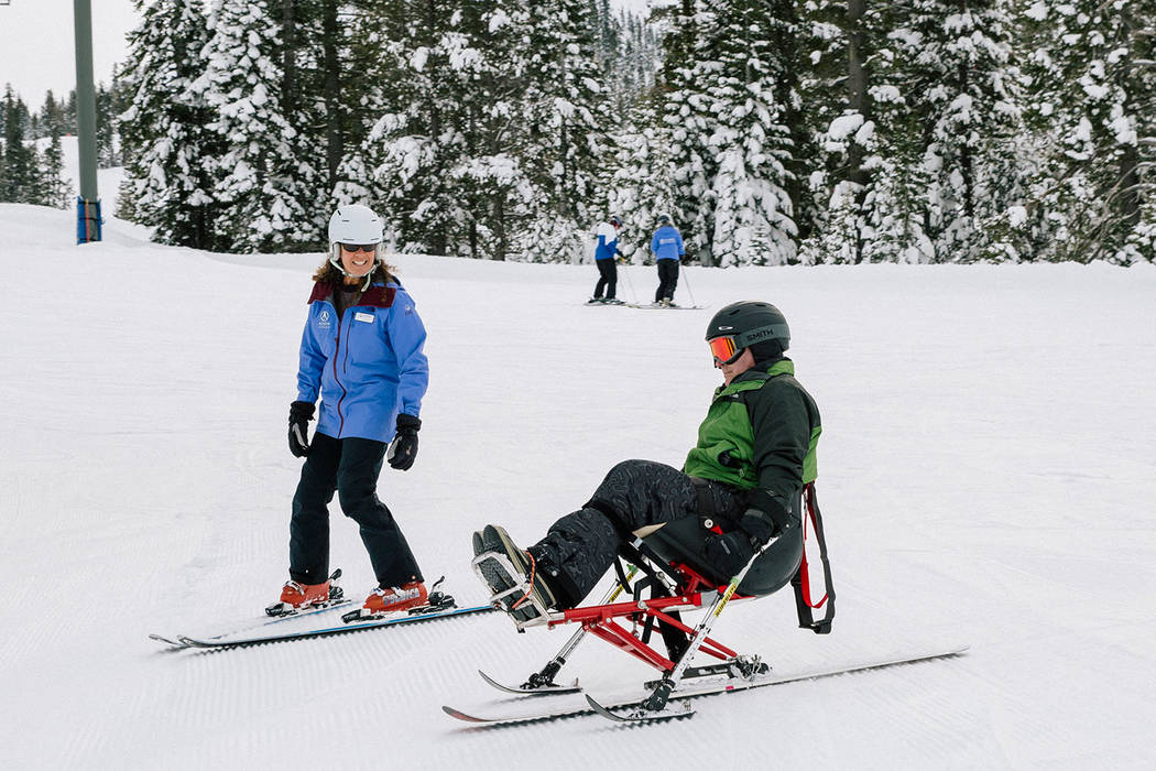 Special to the Pahrump Valley Times Participants will travel from all over the country to participate in specialized private ski and snowboard instruction that will be provided to them free of cha ...
