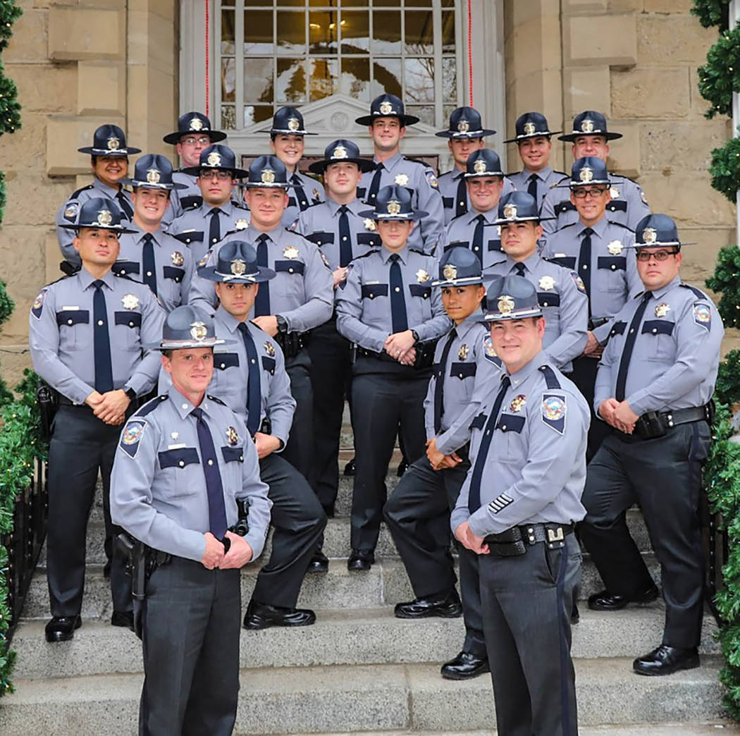 Special to the Pahrump Valley Times Following graduation on Jan. 5, troopers begin 14 weeks of field training with multiple training officers in the Public Safety Training Officer (PSTO) program.