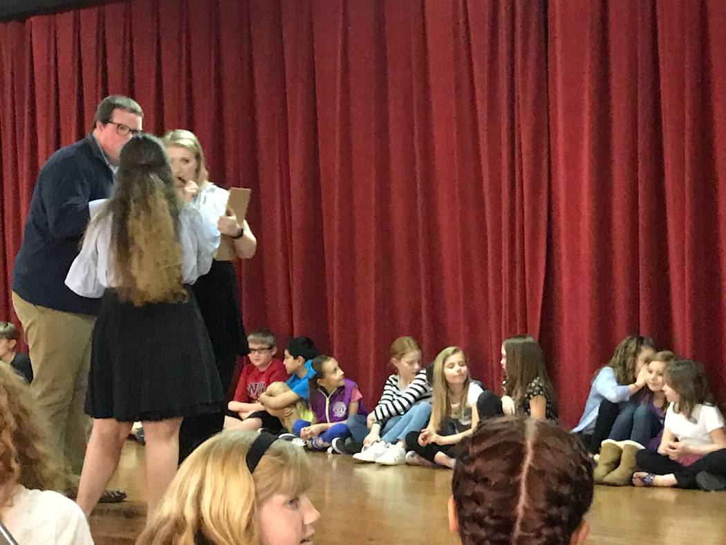 Jeffrey Meehan/Pahrump Valley Times The Missoula Children's Theatre company, a traveling theater production that puts on various plays, stopped in Pahrump on Monday for a casting call for its King ...