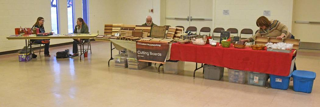 Richard Stephens/Special to the Pahrump Times Vendors at the Beatty craft show pass the time. The community's attendance and vendor count was not what had been hoped for but organizers have expect ...