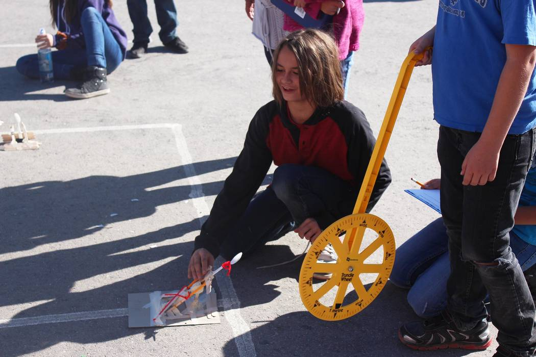 Jeffrey Meehan/Pahrump Valley Times A new STEAM (Science, Technology, Engineering, Arts and Math) program is helping kids at Floyd Elementary School gain skills needed to enter engineering and com ...