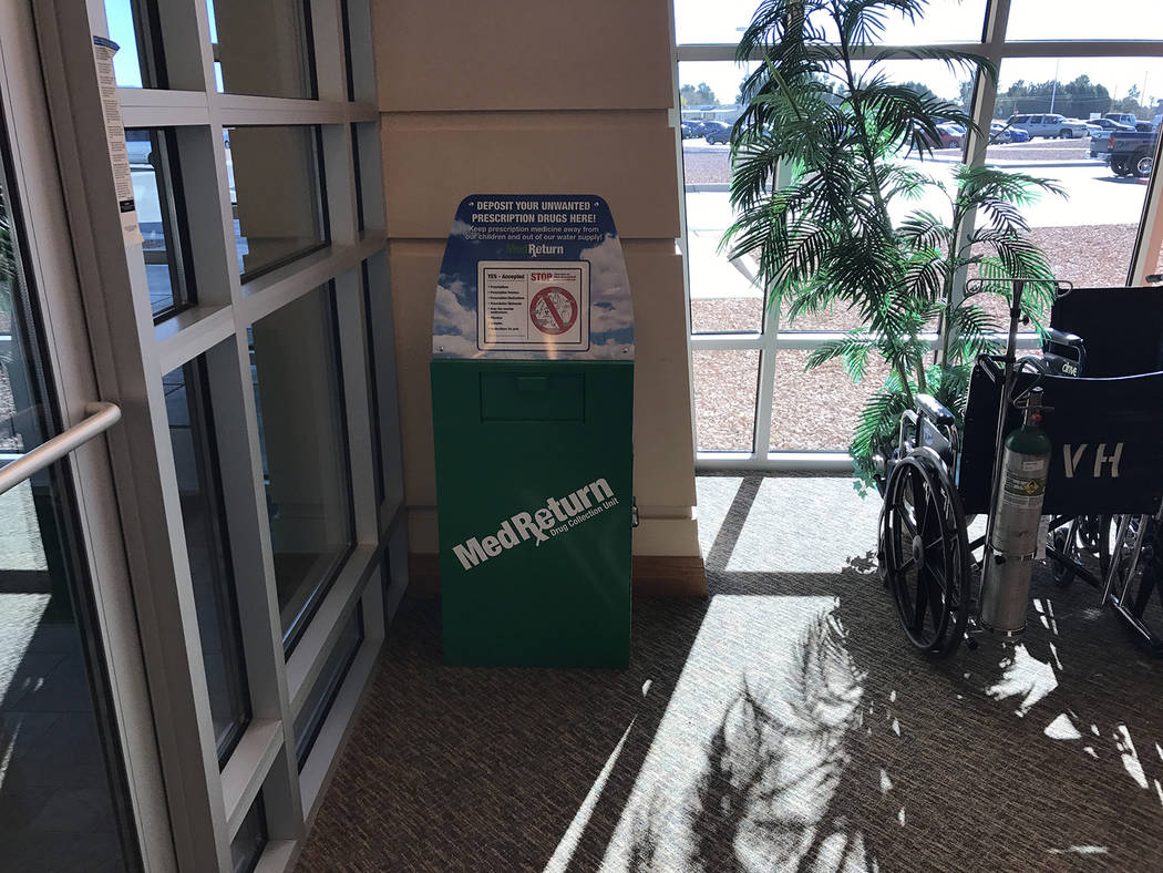 Special to the Pahrump Valley Times To help combat risks of unused or expired prescription drugs falling into the wrong hands or by damaging the environment through improper disposal, the Nye Coun ...