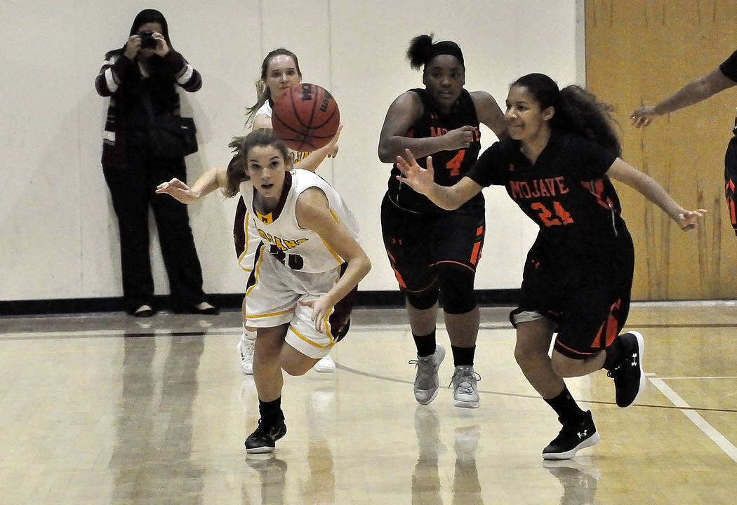 Horace Langford Jr./Pahrump Valley Times The win by Pahrump Valley against Desert Pines on Wednesday improved the Trojans record to 2-1 in the Class 3A Sunset League. This photo shows Pahrump Vall ...