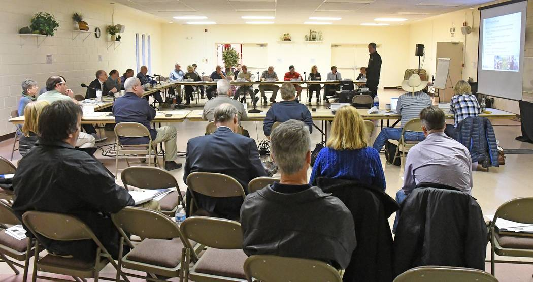 Richard Stephens/Special to the Pahrump Valley Times The Nevada Site Specific Advisory Board held a full meeting in the Beatty Community Center Wednesday, Jan. 18. The NSSAB is made up of resident ...