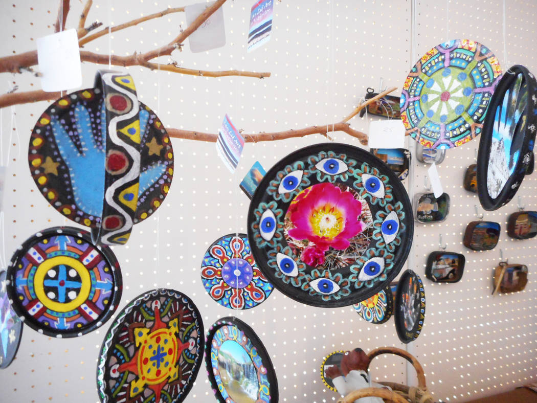 Robin Flinchum/Special to the Pahrump Valley Times A look at Mandalas by Darwin artist and author Kathy Goss. The Tecopa/Shoshone arts weekend is planned for later this month.