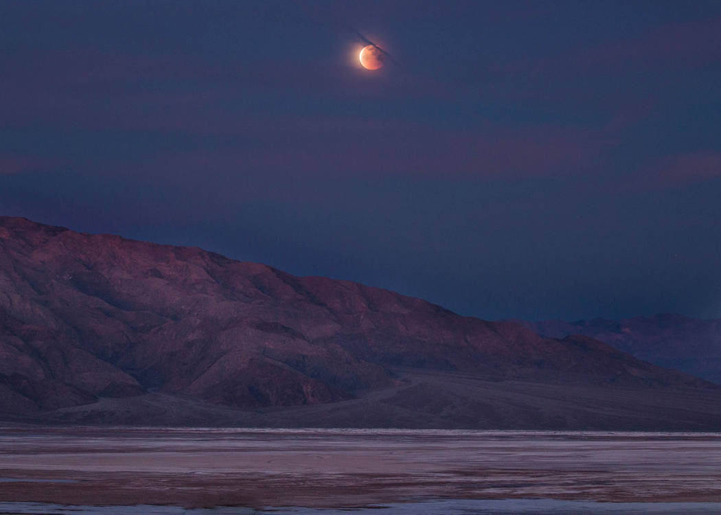 National Park Service Here is the eclipse at Death Valley National Park as it occurred early Wednesday. The whole process took more than four hours.
