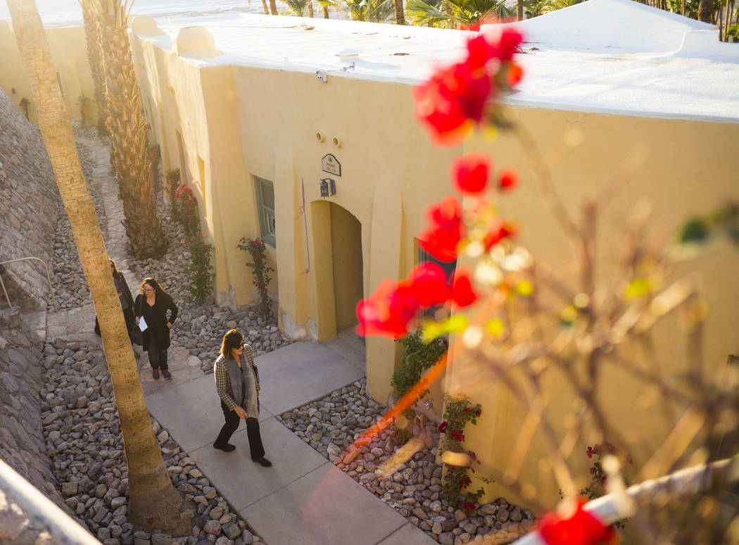 Dominie Lenz, general manager of the Oasis at Death Valley, leads a tour of The Inn at Death Valley in Death Valley National Park, Calif, on Tuesday, Jan. 23, 2018. The Inn, formerly the Furnace C ...