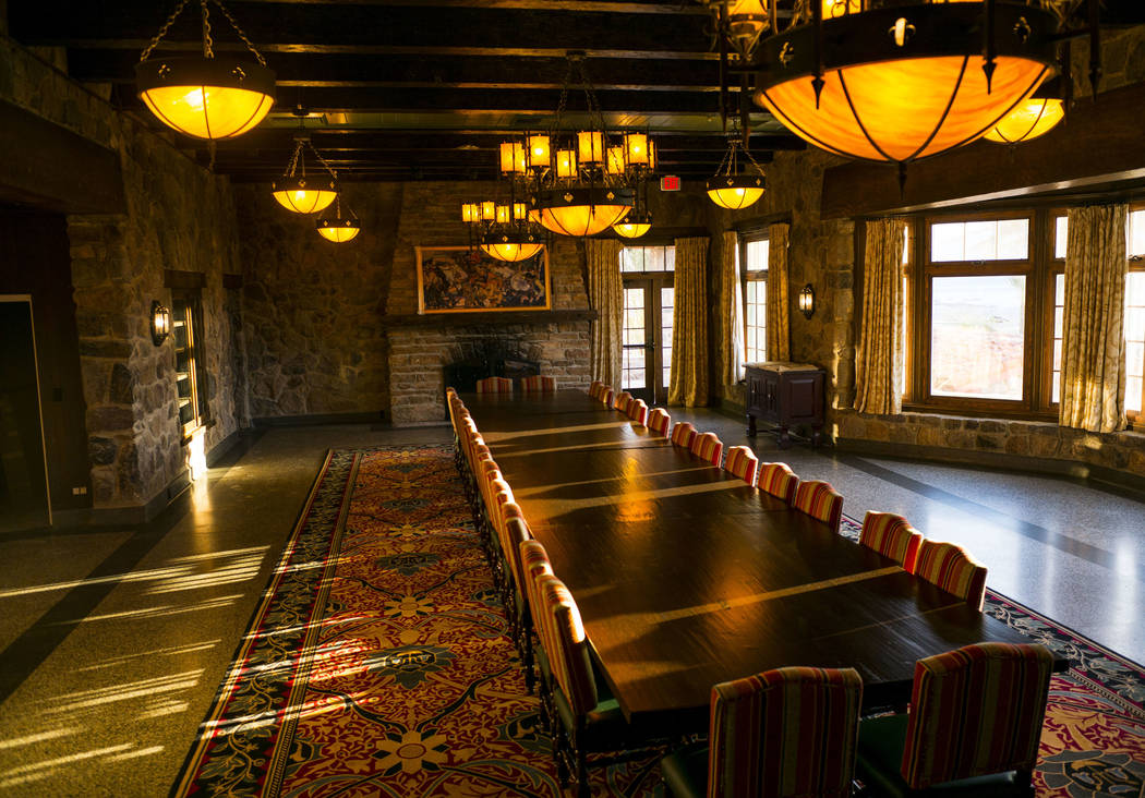 The Gold Rush Room in late afternoon light during a tour of The Inn at Death Valley in Death Valley National Park, Calif, on Tuesday, Jan. 23, 2018. The Inn, formerly the Furnace Creek Inn prior t ...