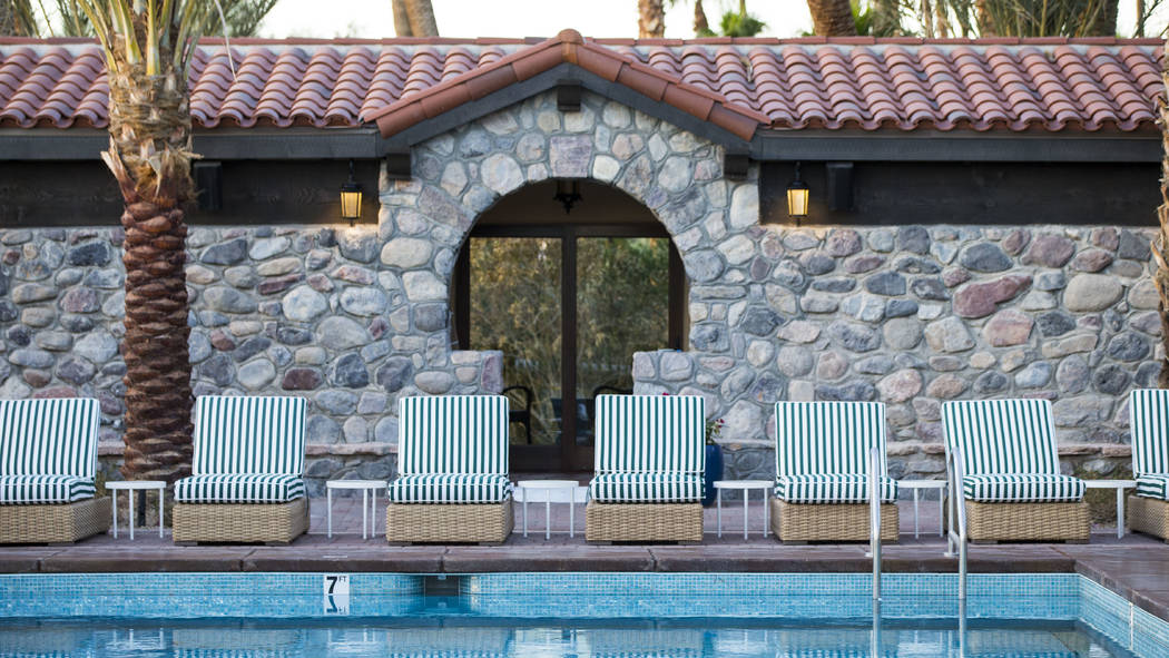 A spring-fed pool that keeps an 85 degree temperature is one of many draws for guests at The Inn at Death Valley in Death Valley National Park, Calif, on Tuesday, Jan. 23, 2018. The Inn, formerly  ...