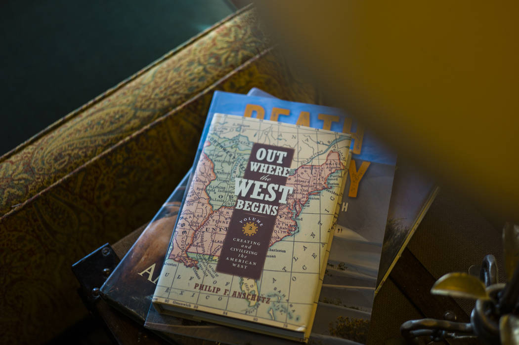 Books in the library room during a tour of The Inn at Death Valley in Death Valley National Park, Calif, on Tuesday, Jan. 23, 2018. The Inn, formerly the Furnace Creek Inn prior to renovations, is ...