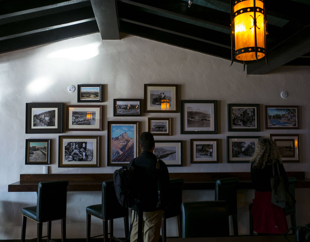 Historic photos can be found throughout the property as seen during a tour of The Inn at Death Valley in Death Valley National Park, Calif, on Tuesday, Jan. 23, 2018. The Inn, formerly the Furnace ...
