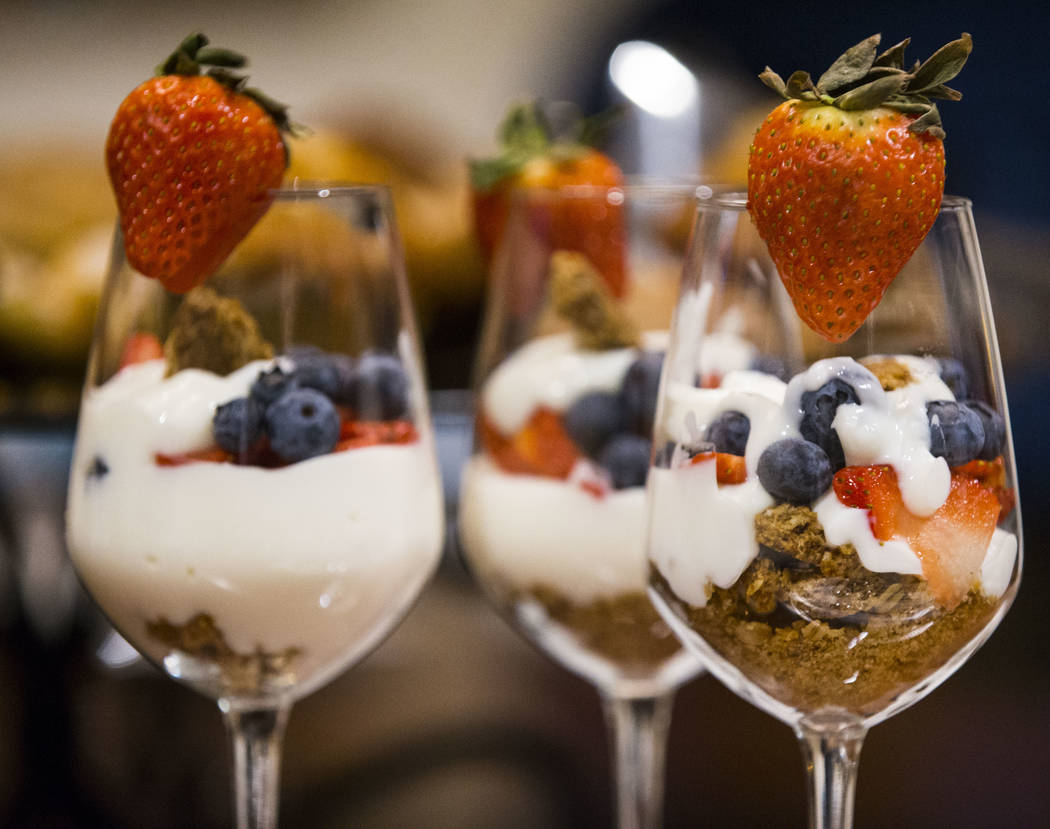 Breakfast parfait at The Inn at Death Valley in Death Valley National Park, Calif, on Wednesday, Jan. 24, 2018. The Inn, formerly the Furnace Creek Inn prior to renovations, is slated to reopen Fe ...